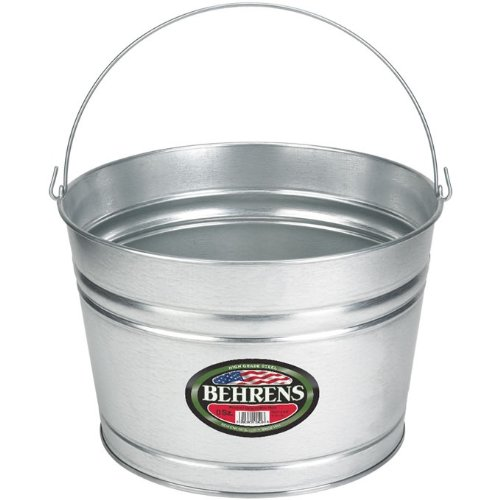Behrens C17GS 4-1/4-Gallon Galvanized Steel Pail
