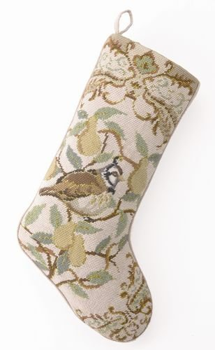 Partridge in a Pear Tree Needlepoint Stockings