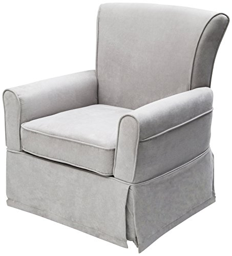 Delta Furniture Benbridge Upholstered Glider Swivel Rocker Chair, Dove Grey by Delta Furniture