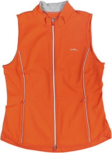 L-RL Lauren Active Womens Reflective Full Zip Vest Orange M