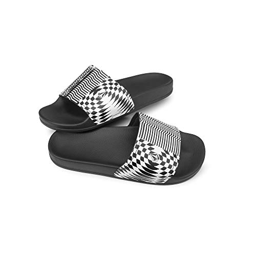 - Volcom Men's Don't Trip Slide Sandal, Black Stripe 12 D US