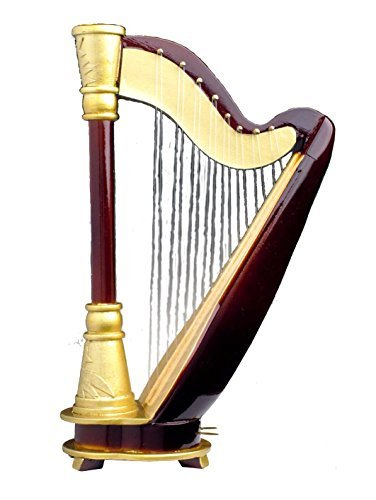 Harp 18 Note w Case Music Box Replica Musical Instrument by Broadway Gifts