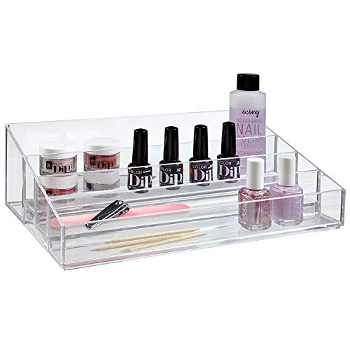 (STORi Premium Quality Clear Plastic Vanity Organizer   Audrey Collection)