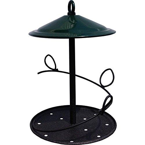 Pennington 2149629738 Bird Feeder, Green, Black (Cylinder Feeder Seed Bird)