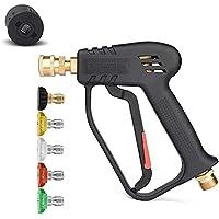 4350 PSI Hogedrukreiniger Gun Handvat met 5 Water Nozzle Tip, Water Wash Cleaner voor Auto Cleaning Kit (M22 14MM…