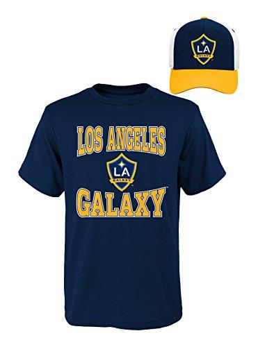 (MLS Youth Boys 8-20 La Galaxy Tee & Hat Set, M(10-12), Assorted)