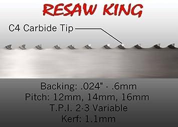 3 4 X 12 14 16mm Vari Tooth Pitch X 115 Resaw King Carbide Tip