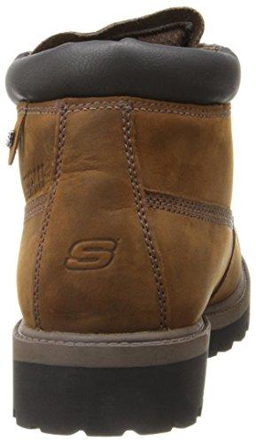 Skechers USA Mens Verdict Waterproof Boot Dark Brown 5vMyb