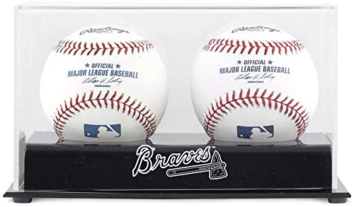 Atlanta Braves Two Baseball Cube Logo Display Case