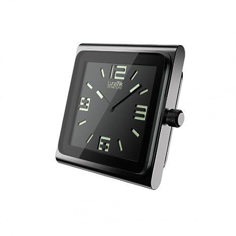 Lunatik - Reloj analógico para iPod Nano 6G (manecillas y números que brillan en la oscuridad), color negro: Amazon.es: Electrónica