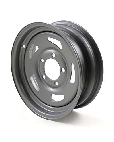 JG 13X4.5 5/4.5 Silver Blade Trailer Wheel by RecStuff.com