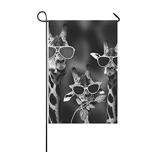 Artsadd Funny Giraffe with sunglasses Garden Flag 12''x18'' (Without Flagpole) 12' Giraffe