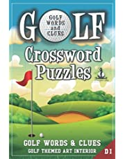 Golf Crossword Puzzles: Golfers, Courses, Terms, Legends. Golfing Sports Interior. Easy to Hard Words. ALL AGES Activity.