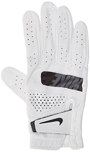 NIKE Tour Golf Gloves 2017 Regular White/Black Fit to Right Hand Small (Glove Nike Golf Hand Right)