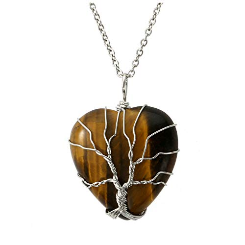 Silver Tiger Eye Necklace - 6