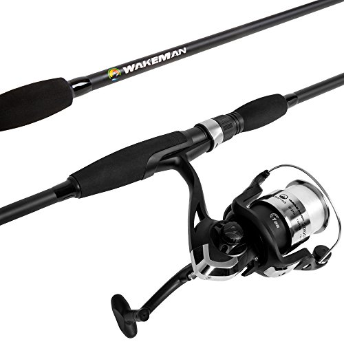 Wakeman Strike Series Spinning Rod and Reel Combo - Blackout