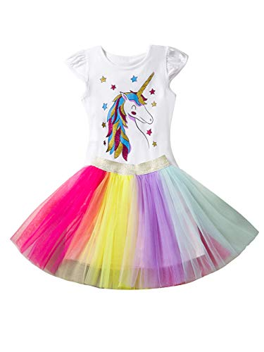 iChunhua Little Girl Princess Fancy Dress Costume for Halloween Christmas Party White