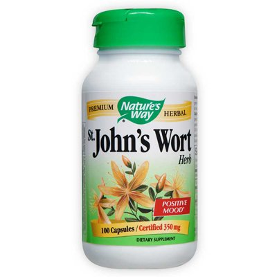Wort herbes, 450mg 100 Capsules de Natures Way Saint John