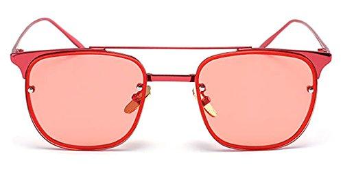 Slocyclub Women Mirrored Flat Metal Bridge Semi Rimless - Ebay Sunglasses Red Lens