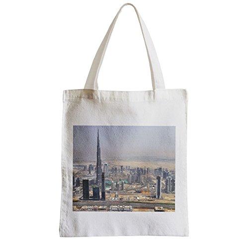 Grande Borsa Shopping Spiaggia Studentessa Dubai Emirati Arabi Emirati Burj Khalifa