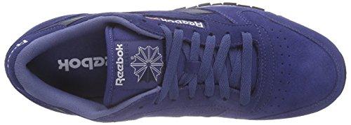 Reebok Classic Leather Suede - Zapatillas de running Hombre Azul - Blau (Midnight Blue/Collegiate Navy/White/Black)