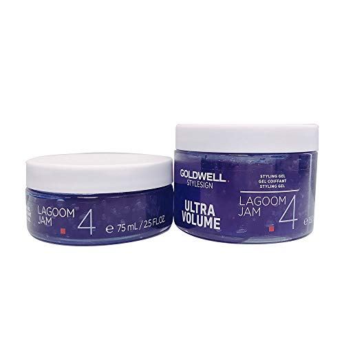 Goldwell StyleSign Ultra Volume Lagoom Jam Intense Texturizing Styling Gel Duo set - 5 oz (with Travel Size - Lagoom Jam