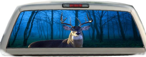 Buck- Blue Woods- 17 Inches-by-56 Inches Compact Pickup Truck- Rear Window Graphics
