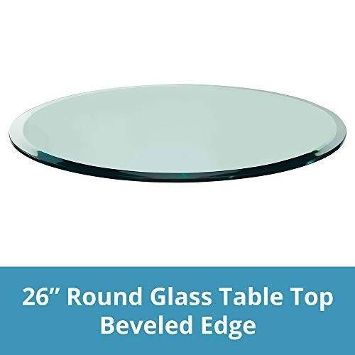 """TroySys - 1/2"""" Thick Round Circle Glass Table (26"""") 