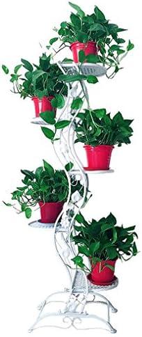 ヨーロッパスタイルの花の棚の鉄クリエイティブな吊り蘭の床マルチ階のフラワーラック