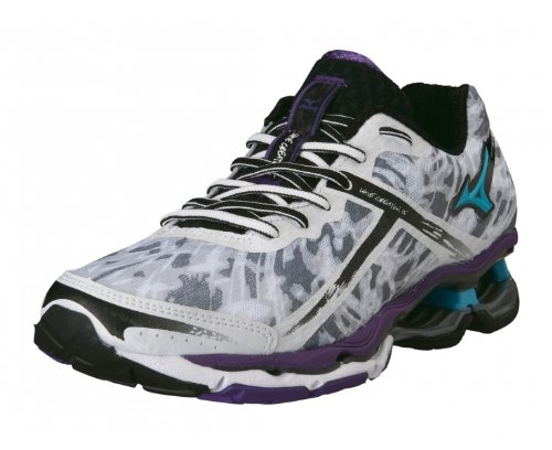 Running 15 Zapatilla Señora Creation Blanco Morado de MIZUNO Wave AqXpwa
