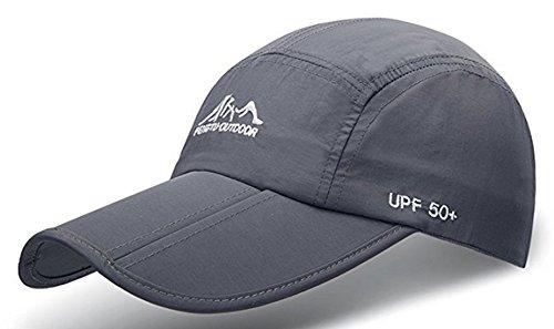 d6e3ae3c828 JOSENI Outdoor Quick Dry Sun Hat Folding Portable Unisex UV SPF 50+  Baseball Cap