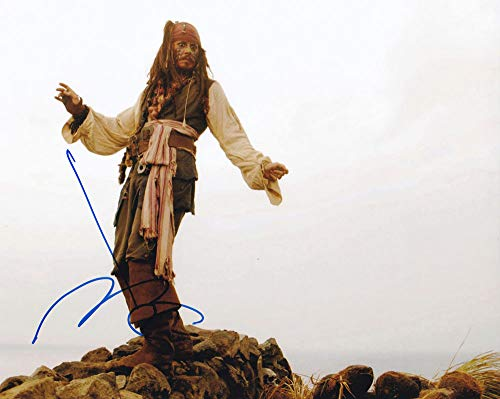 Johnny Depp in-person autographed photo Pirates of the Caribbean