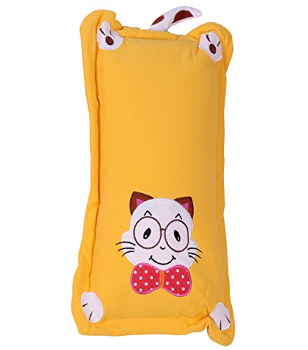 lovey-cat-buckwheat-pillow-finalize-the-design-baby-cotton-pillow-extension-0-6-years-yellow