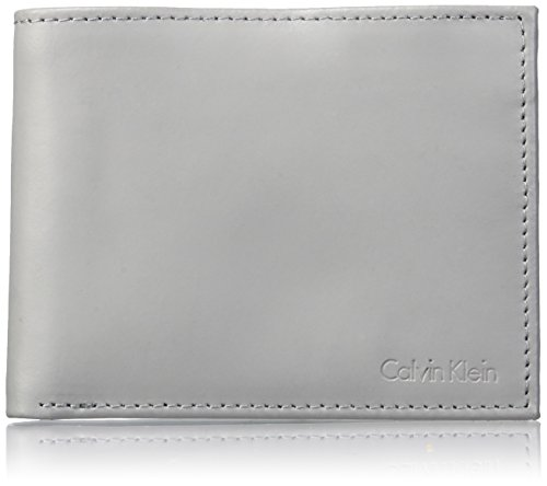 Rfid Klein Key Wallet Leather Calvin With Cool Klein Gray Bifold Men's Calvin Fob gxwvRUOqB