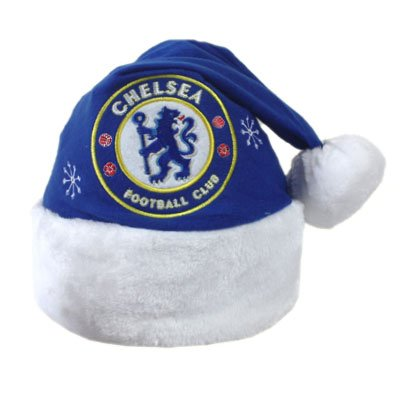4b5b9806d3e59 Chelsea FC Football Club Santa Christmas Hat  Amazon.co.uk  Kitchen   Home