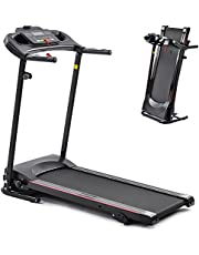Folding Treadmill for Home Office Use for Exercise with LCD Monitor 3 Levels Manual Incline 12 Preset Program