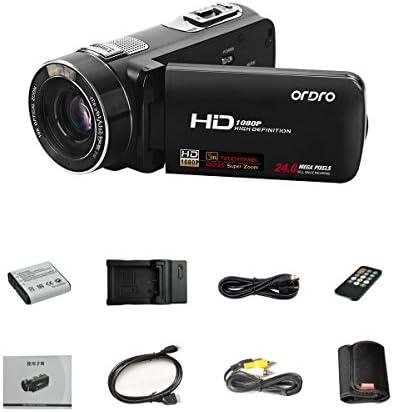 ExpressPanda Ordro Z80 Full HD 1080P videocámara Digital con Zoom óptico 10X, Pantalla de visualización LCD de 3,0 Pulgadas: Amazon.es: Electrónica