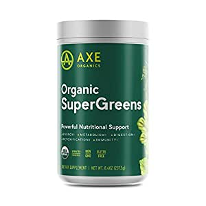 Organic SuperGreens Powder from Axe Organics - by Dr. Axe