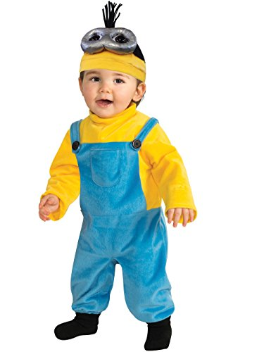 Rubie's Costume CO Baby Boys' Minion Kevin Romper Costume, Yellow, 3-4 -