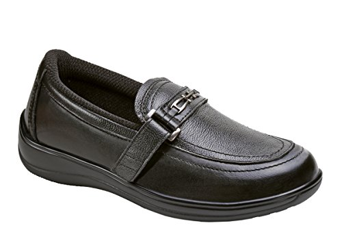 Orthofeet 817 Women's Comfort Diabetic Therapeutic Extra Depth Shoe Black 9 Wide (D) Velcro by Orthofeet