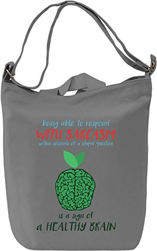 Healthy brain Borsa Giornaliera Canvas Canvas Day Bag| 100% Premium Cotton Canvas| DTG Printing|