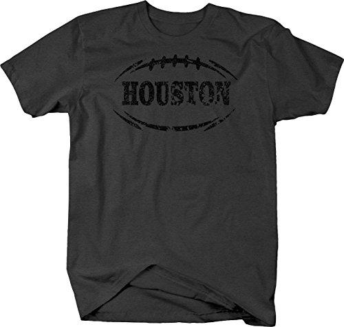 Caps Supply Distressed - Houston Football Flag Tackle Home Team Edition Tshirt - (Hunting Supplies Houston)