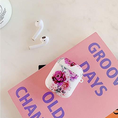 Hnzxy Hülle Kompatibel mit Apple AirPods Pro Blumen Hülle,AirPods Hülle,Blumen TPU Silikon Hülle Handyhülle Ultra Dünn…