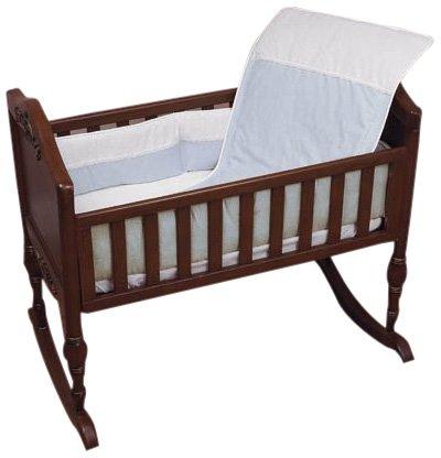 Baby Doll Bedding KingdomMini Crib/ Port-a-Crib Bedding Set, Blue by BabyDoll Bedding   B004BLIU8I