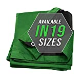 Automotive : Tarp Cover Green/Black 2- Pack Waterproof 12X20 Great for Tarpaulin Canopy Tent, Boat, RV Or Pool Cover!!! (Standard Poly Tarp 12'X20')