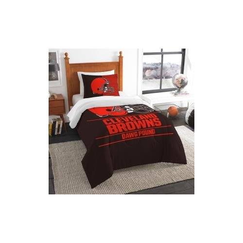 The Northwest Company NFL Cleveland Browns Twin Comforter and Sham, One Size, Multicolor