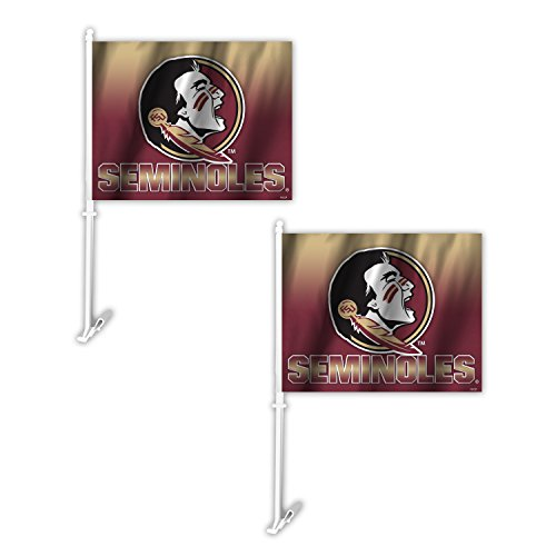Fremont Die NCAA Florida State Seminoles Ombre Car Flag (2 Pack), One Size, Red