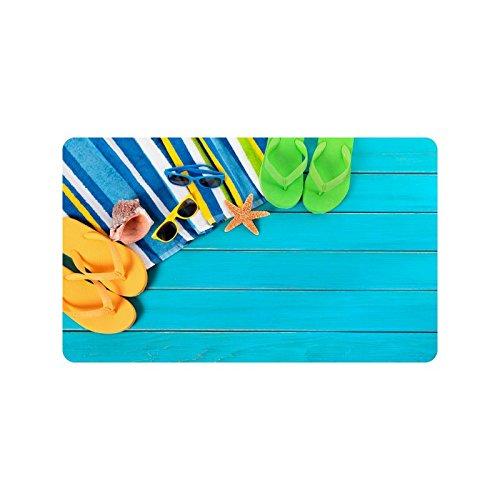 Flip-Flops-Doormat-Entrance-Mat-Floor-Mat-Rug-IndoorOutdoorFront-DoorBathroom-Mats-Rubber-Non-Slip-Size-30-x-18-inches