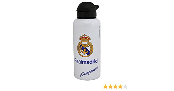 Real Madrid Botellin Aluminio Oficial Blanco Away