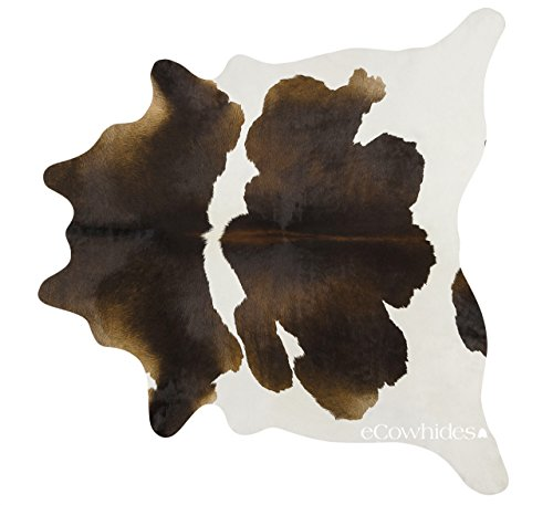 ecowhides Chocolate Brazilian Cowhide Area Rug, Cowskin Leather Hide for Home Living Room (XXL) 8 x 7 ft